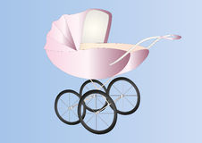 Antique baby girl buggy Stock Photography