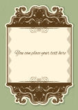Antique background scroll with decor vignettes Stock Photography