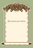 Antique background scroll for text with decor vignettes Royalty Free Stock Photos