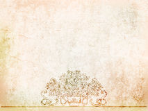 Antique background vases on the ancient wall. illustration Royalty Free Stock Images