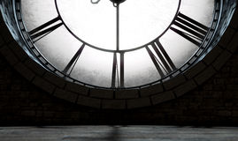 Antique Backlit Clock Royalty Free Stock Photos