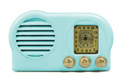 Antique Bakelite Radio. Antique bakelite tube radio isolated parts, clipping paths included Stock Photos