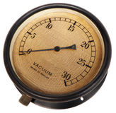 Antique bakelite vacuum gauge Royalty Free Stock Images