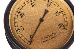 Antique bakelite vacuum gauge Royalty Free Stock Photography