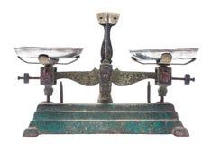 Antique balance on white Royalty Free Stock Images