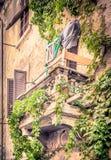 Antique balcony in Tuscany Royalty Free Stock Photos