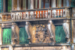 Antique balcony in Venice Royalty Free Stock Images