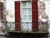 Antique balcony stock photo