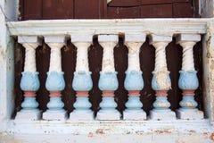 Antique balusters. In Cartagena de Indias Royalty Free Stock Image