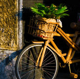 Antique bamboo bike Royalty Free Stock Images
