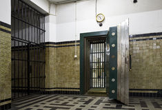 Antique bank vault. Antique vault of bank Mandiri in Jakarta, Indonesia Stock Photo