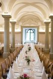 Antique banquet hall Stock Photography