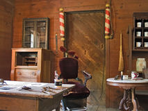 Antique Barber Shop Stock Photo