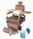 Antique barbers chair Stock Photo