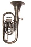 Antique Baritone Horn Stock Photography