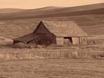 Antique Barn. A sepia tone photo of a antique barn royalty free stock photography