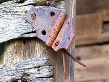 Antique Barn Hinge Royalty Free Stock Images