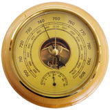 Antique barometer Stock Images