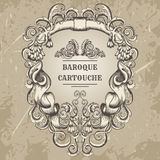 Antique and baroque cartouche ornaments frame. Vintage architectural details design elements Royalty Free Stock Image