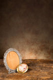 Antique baroque empty photo frame Stock Images