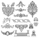 Antique and baroque ornaments  vector Stock Image