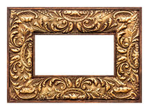 Antique baroque style golden picture frame. vintage background Royalty Free Stock Photography