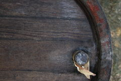 Antique barrel. Top of an old barrel Stock Images