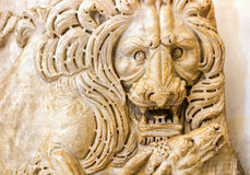 Antique bas-relief of a lion in the Capitoline Museum, Rome Stock Photo