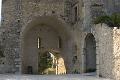 Antique bastion. Fortress ruins antique decayed bastion stock photo