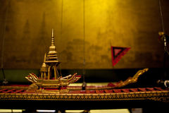 Antique Battle Ship Of Thailand Model, Museum Siam Stock Photography