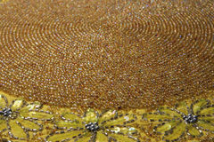 Antique beaded mat Royalty Free Stock Photography