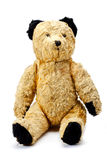 Antique bear. Antique toy bear in fantastic condition on a white background royalty free stock images