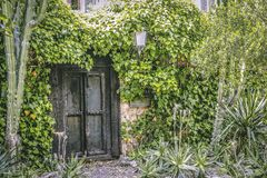 Antique beautiful house gate. stock images