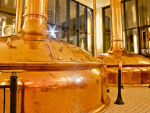 Antique Beer Factory. Old style of brewing beer Stock Photos
