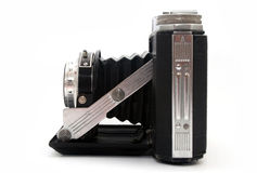 Antique Bellows Camera. Antique folding camera with bellows royalty free stock photo