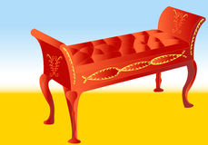Antique bench Royalty Free Stock Image