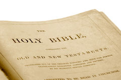 An antique bible Royalty Free Stock Photo