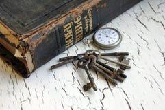 Antique Bible and Keys Stock Photos