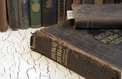 Antique Bible and Old Books Stock Photos