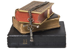 Antique Bibles & Cross Stock Images