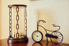 Antique bicycle model clock Royalty Free Stock Photography