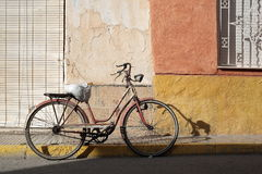Antique Bicycle parked Stock Photo