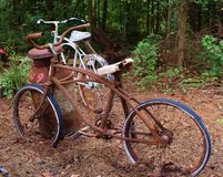 Antique Bicycles Royalty Free Stock Photo