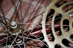 Antique bike repair Stock Image