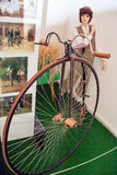 Antique bikes, motorcycle museum. Royalty Free Stock Photo