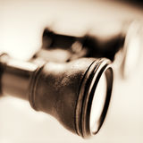 Antique binocular Stock Images