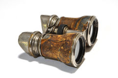 Antique Binoculars. Photograph of antique binoculars, circa 1900 Stock Photo