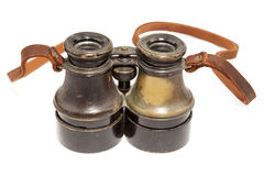 Antique binoculars Stock Photos