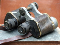 Antique binoculars Stock Photo