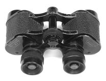 Antique Binoculars. Isolated on white background stock photography